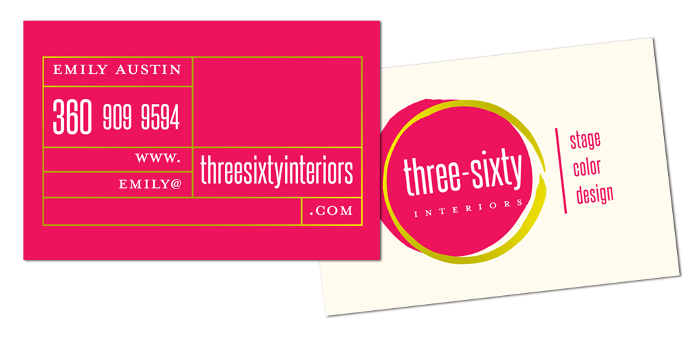 Three-Sixty Interiors business card