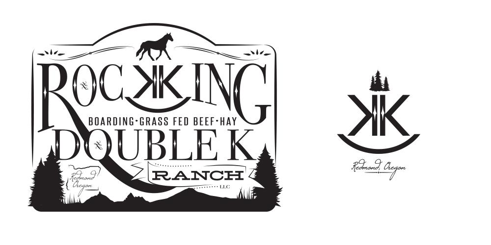 Rocking Double K Ranch branding