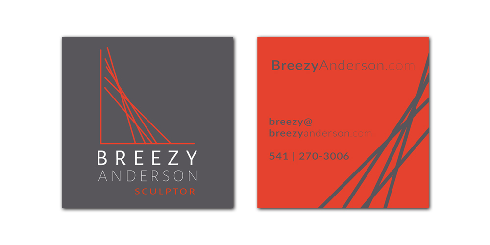 Breezy Anderson - Sculptor business card