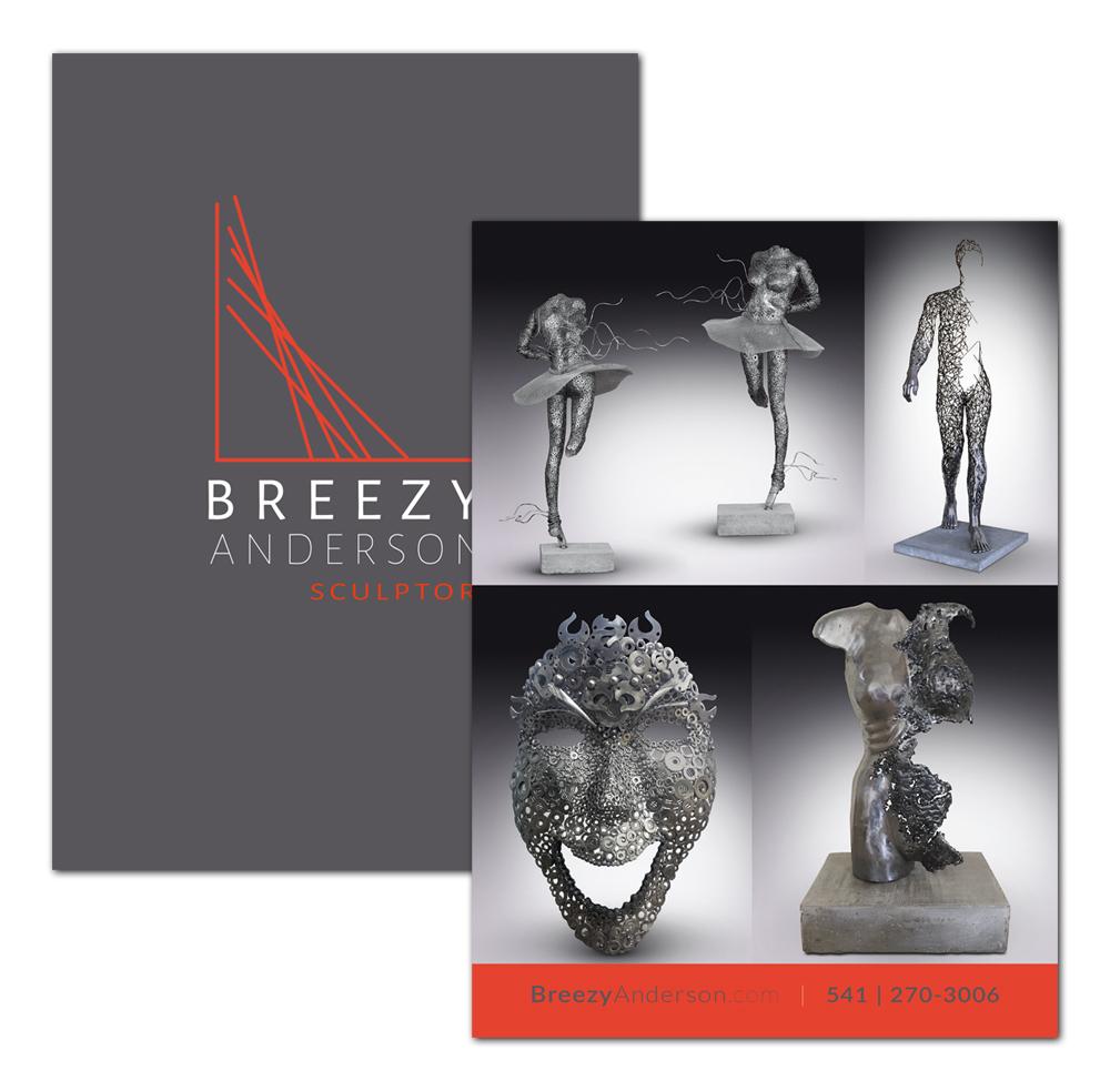 Breezy Anderson - Sculptor postcard