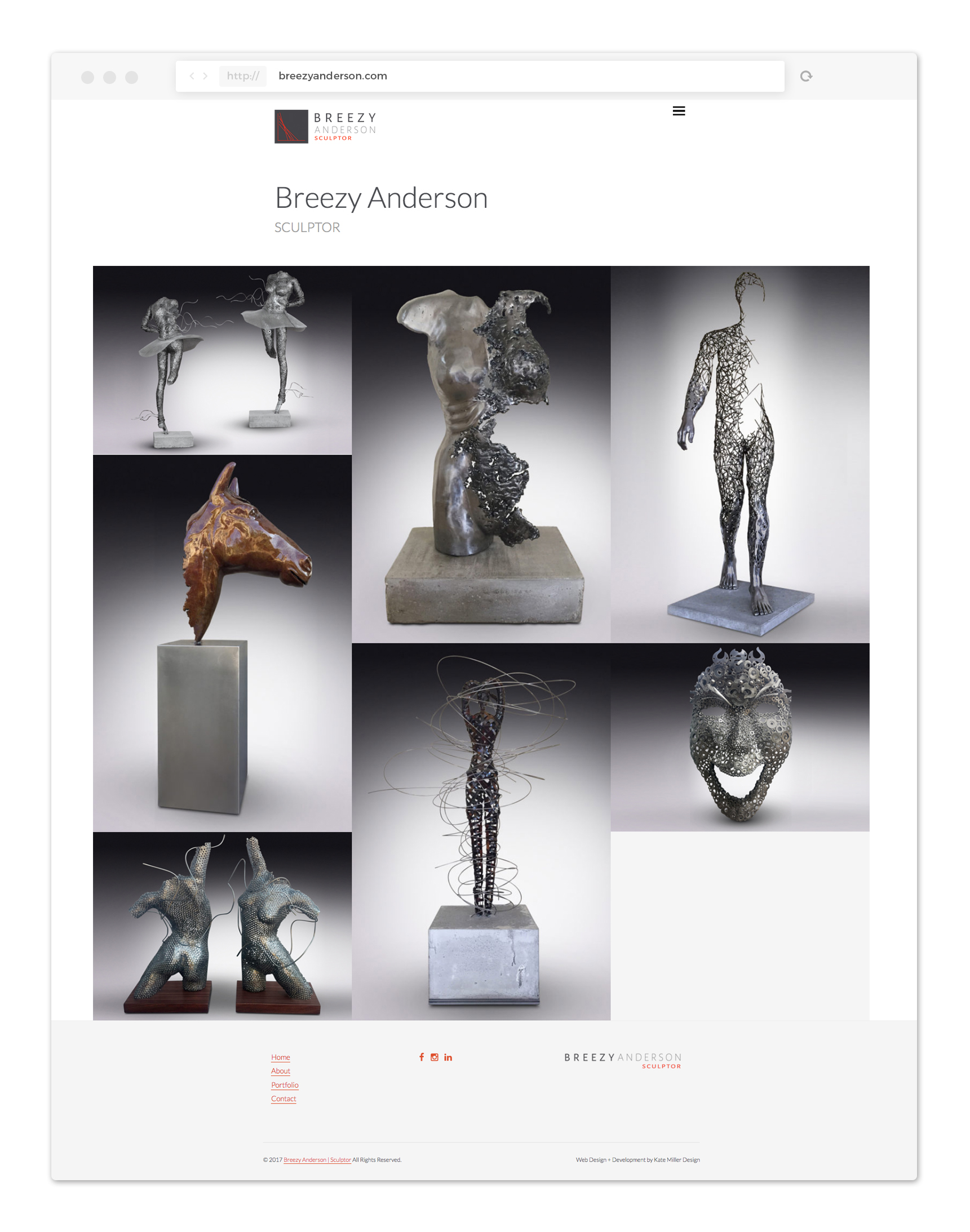 Breezy Anderson - Sculptor website Home