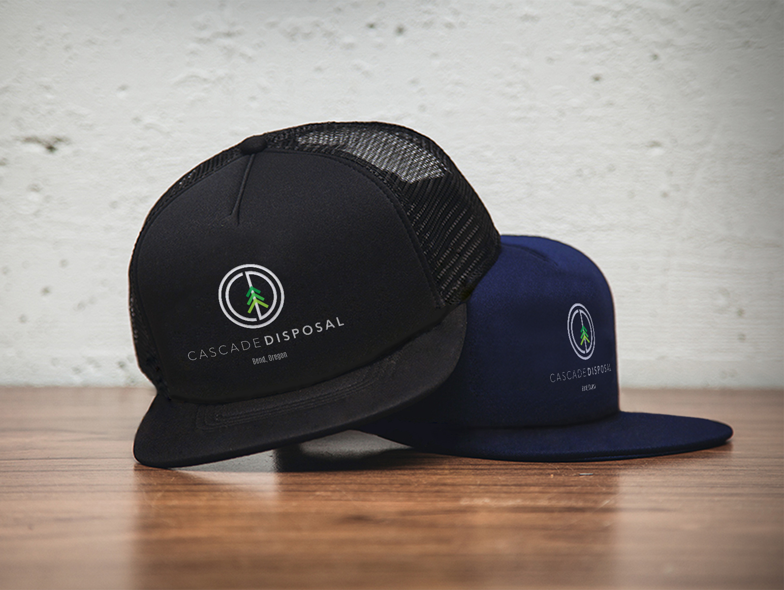 Cascade Disposal custom hat swag