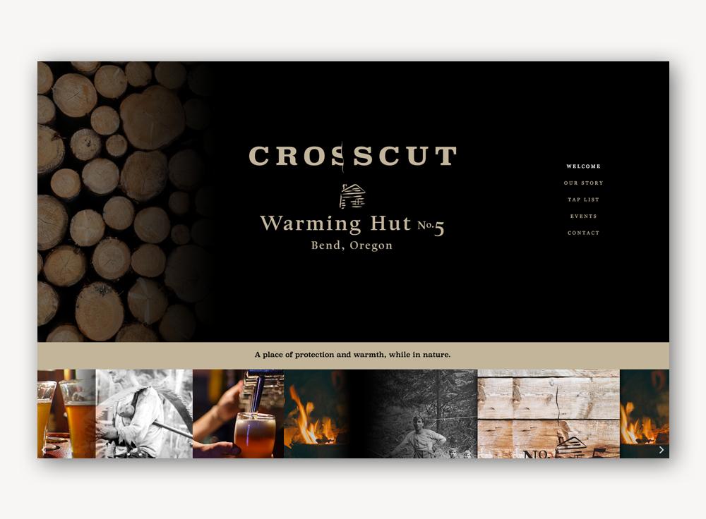 Crosscut - Warming Hut No. 5 website design development
