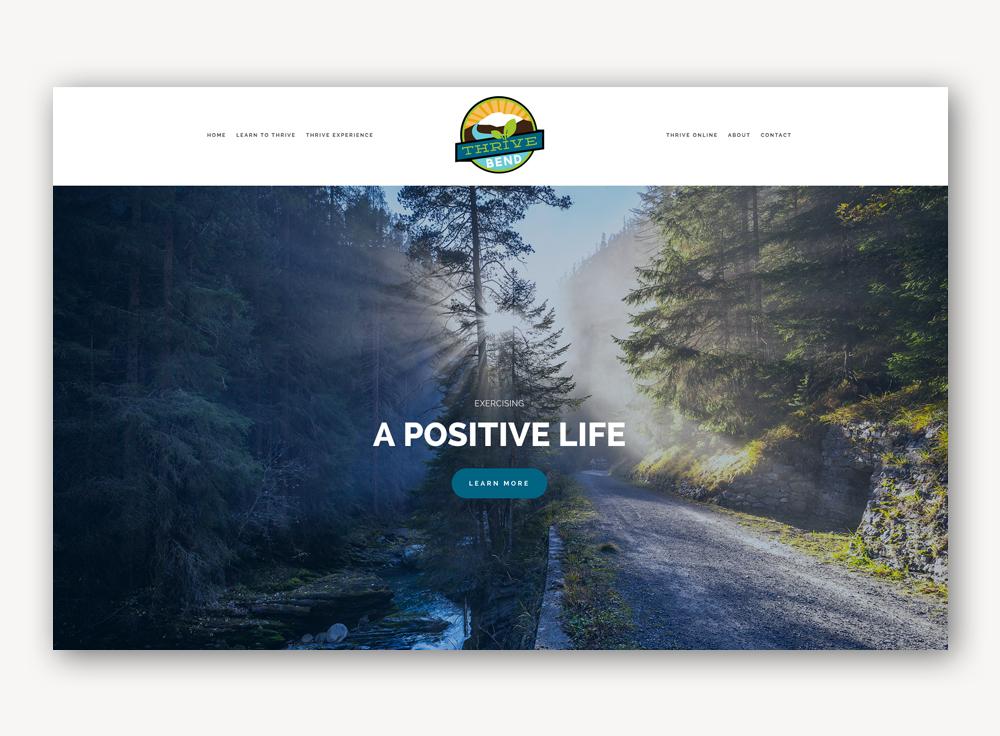 Thrive Bend website design development