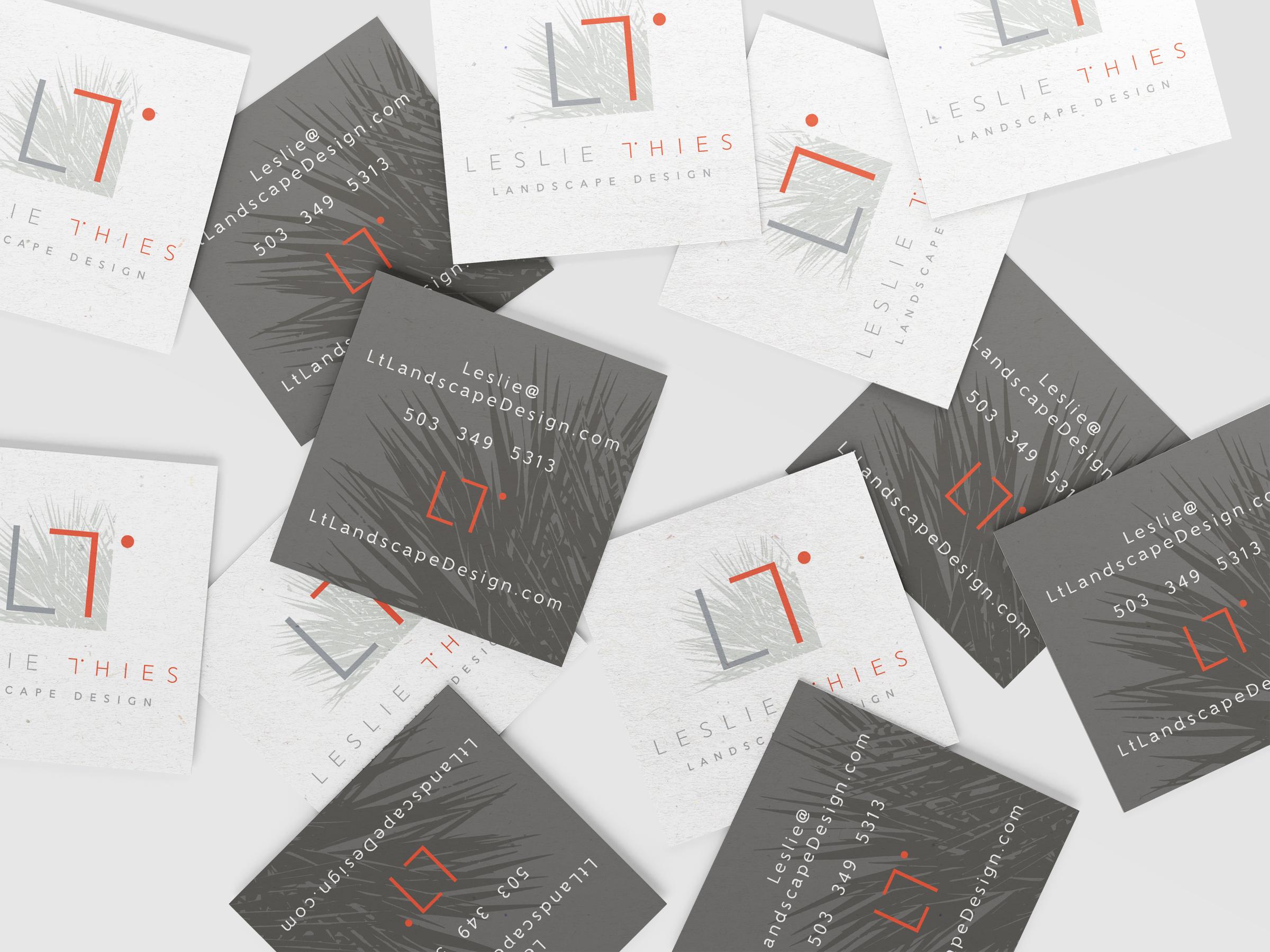 Leslie Thies Landscape Design business card design